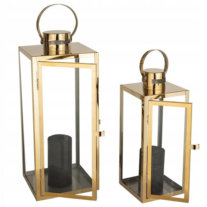 złote lampiony dekoracyjne