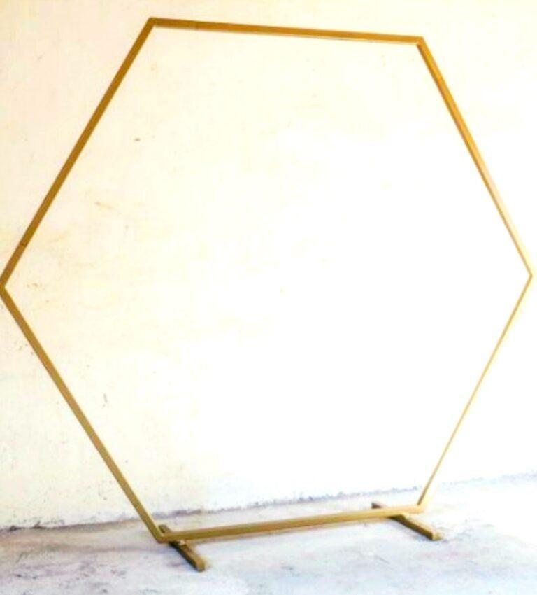 rama w kształcie heksagonu